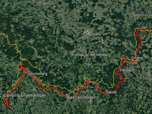 GPS-Track, 278 km