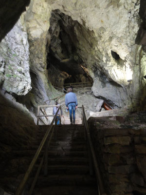 Höhlenteil oberhalb der Burg Predjama