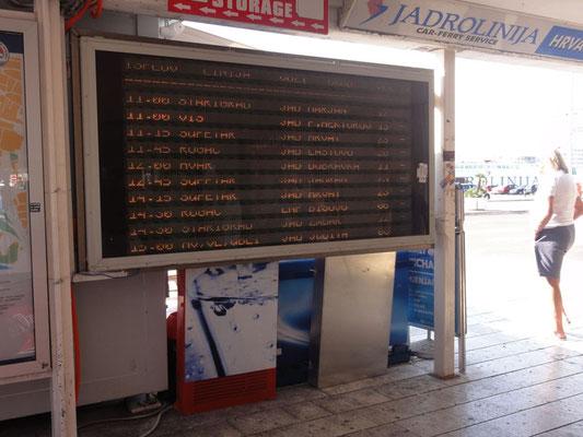 Wie am Flughafen, leider passt die Displayfrequenz nicht zur Belichtungszeit