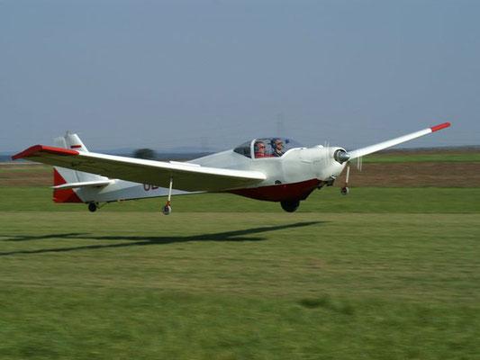 OE-9280 Scheibe SF-25C Falke - Schulungsmotorsegler meines Heimatvereines in Stockerau, mit dem ich das Fliegen gelernt und meinen ersten Alleinflug gemacht habe, heute mein Arbeitsgerät für die Ausbildung unserer Flugschüler.