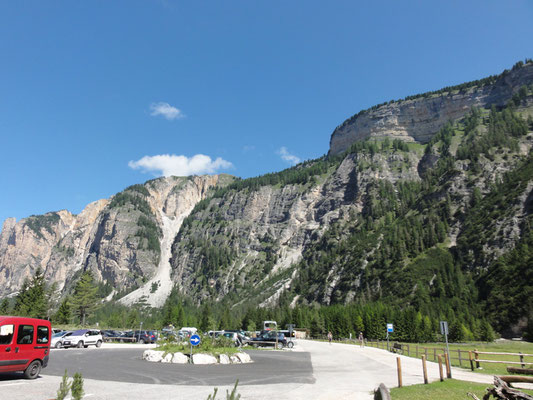 Parkplatz der Pederühütte