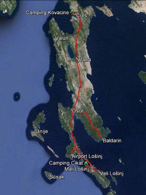 Aufgezeichneter Track aus meinem GPS, 112 km