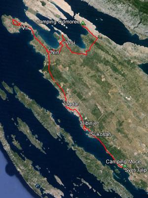 Aufgezeichneter Track aus meinem GPS, 107 km