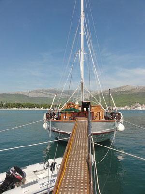Boarding, oder wie das halt in der Seefahrt heißt