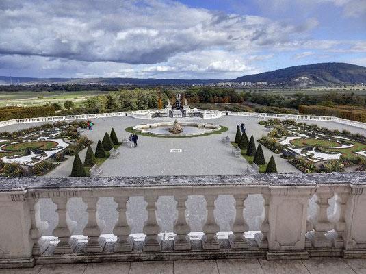 Schloss Hof, Garten vom Balkon