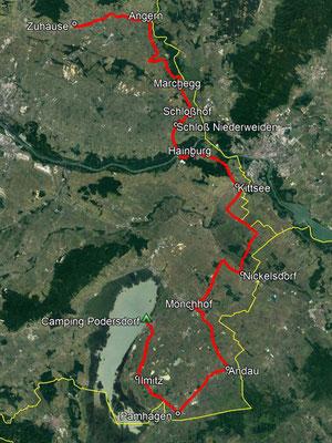 GPS-Track, 161 km