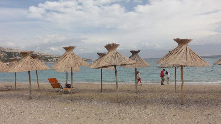 Karibikstimmung am Strand von Baska