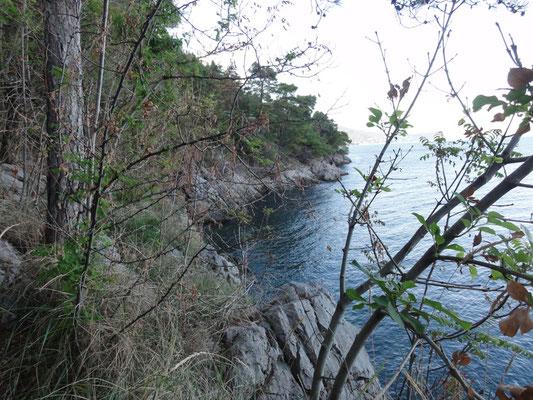 die zerklüftete Ostküste von Istrien