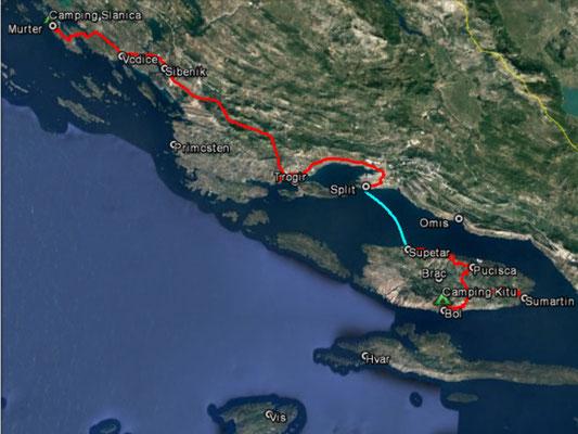 Aufgezeichneter Track aus meinem GPS, 188 km (ohne Fähre)
