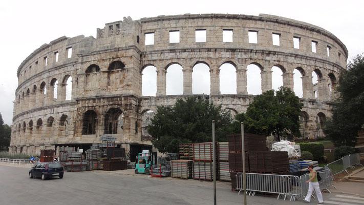 Amphitheater von Pula, angeblich das drittgrößte der Welt