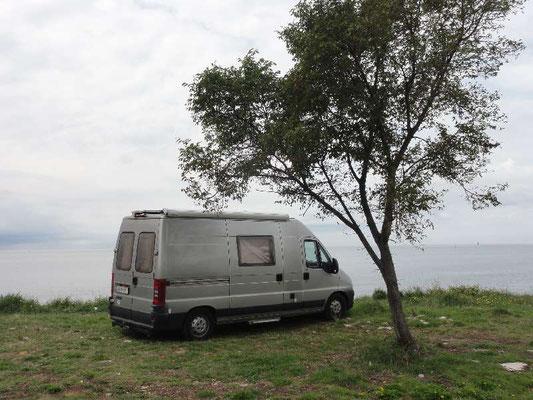 Lässiger Platz zum Wildcampen nördlich von Umag, aber leider wars mir noch etwas zu früh.