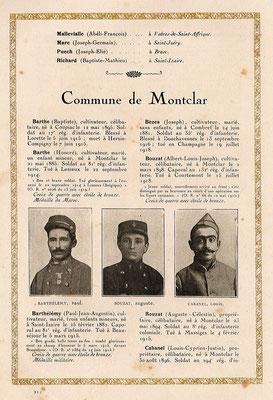 Livre d'or de la commune de Montclar
