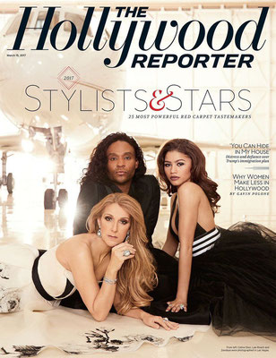 Celine Dion , Law Roach et Zendaya - Couverture The Hollywood Reporter Magazine [USA] (15 Mars 2017)