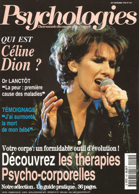 Celine Dion - Couverture Psychologies Magazine [France] (Septembre 1996)