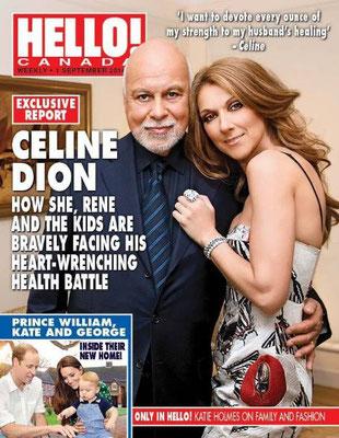 Céline Dion, René Angelil - Couverture Hello! Magazine  [Canada] (1 Septembre 2014)
