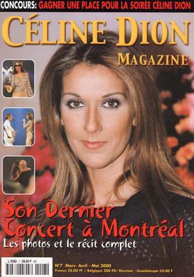 Céline Dion - Couverture Céline Dion Magazine [France] n°7