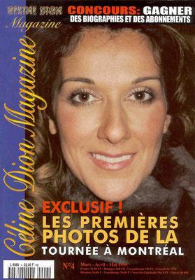 Céline Dion - Couverture Céline Dion Magazine [France] n°4