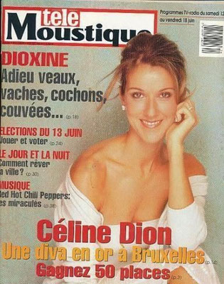 Celine Dion - Couverture Tele Moustique Magazine [France](9 Juin 1999)