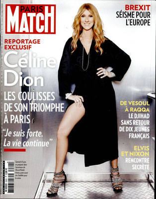 Céline Dion - Couverture Paris Match Magazine [France] (30 Juin 2016)