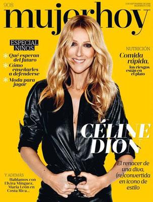 Céline Dion  - Couverture Mujer Hoy Magazine  [Espagne] (03 Septembre 2016)