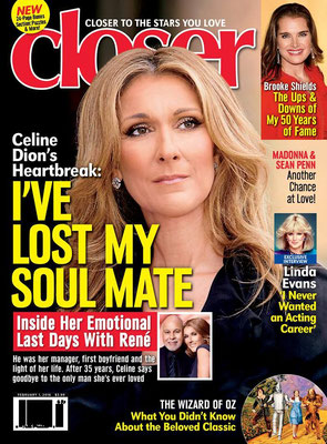 Celine Dion  - Couverture Closer Magazine [USA](1 Fevrier 2016)