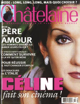 Celine Dion - Couverture Chatelaine Magazine [Canada] (Octobre 1998)