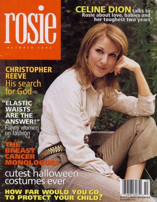 Celine Dion - Couverture Rosie Magazine [USA] (Octobre 2002)