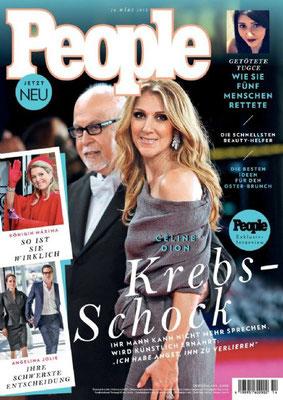 Céline Dion et René - Couverture People Magazine  [Allemagne] (26 Mars 2015)