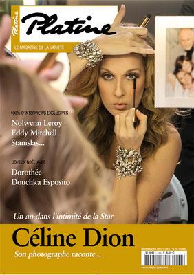 CelineDion - Couverture Platine Magazine [France] (Decembre 2009)