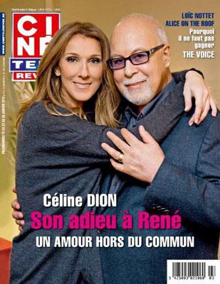 Céline Dion, René Angelil - Couverture Cine Tele Revue Magazine  [Belgique] (22 Janvier 2016)