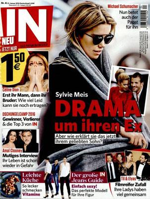 Sylvie Meis , Céline Dion - Couverture IN Magazine [Allemagne] (21 Janvier 2016)