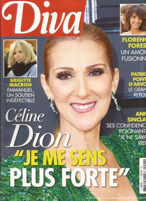 Couverture Céline Dion - Diva Magazine [France] (N°4 Mars 2017)