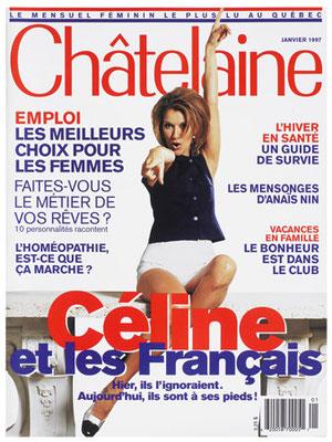 Celine Dion - Couverture Chatelaine Magazine [France] (Janvier 1997)