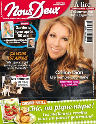Céline Dion - Couverture Nous Deux Magazine [France] (3 Juin 2014)