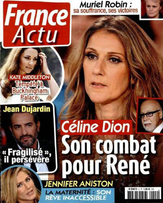 Céline Dion - Couverture France Actu Magazine  [France] (29 Octobre 2013)