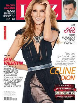 Céline Dion - Couverture Luz Magazine  [Argentine] (9 Fevrier 2014)