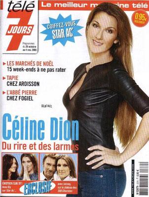 Celine Dion - Couverture Télé 7 Jours Magazine [France] (Novembre 2005)