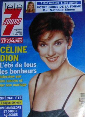 Celine Dion - Couverture Télé 7 Jours Magazine [France] (22 Juillet 1995)