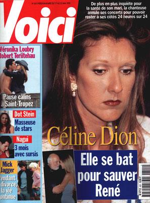 Céline Dion - Couverture Voici Magazine [France] (17 Mai 1999)
