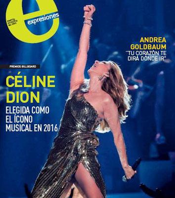Céline Dion - Couverture Expresiones Magazine  [Equateur] (24 Mai 2016)