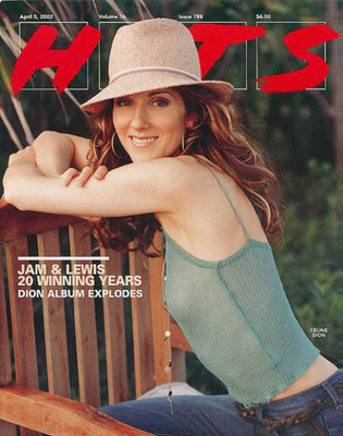 Celine Dion - Couverture HITS Magazine [Grande-Bretagne] (5 Avril 2002)