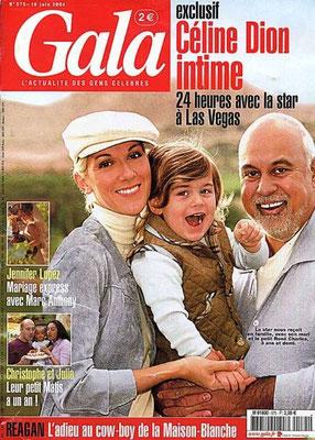 Céline Dion, René Angelil et René Charles - Gala Magazine [France] (16 Juin 2004)