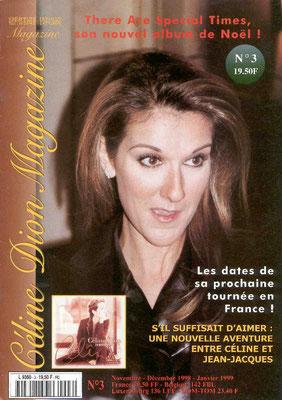 Céline Dion - Couverture Céline Dion Magazine [France] n°3