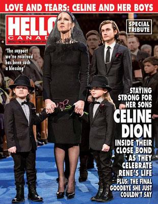 Céline Dion - Couverture Hello! Magazine [Canada] (8 Fevrier 2016)