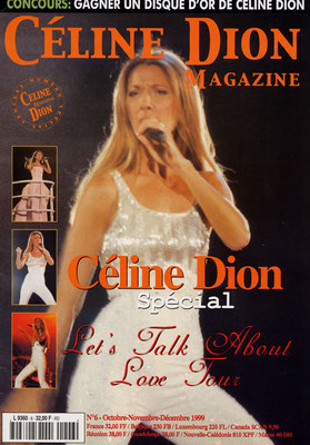Céline Dion - Couverture Céline Dion Magazine [France] n°6