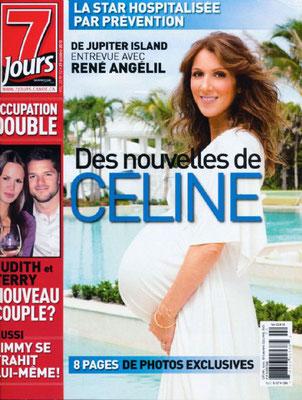 Céline Dion - Couverture  7 Jours Magazine  [Canada] (29 Octobre 2010)