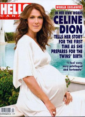 Celine Dion - Couverture Hello Magazine [Canada] (1 Novembre 2010)