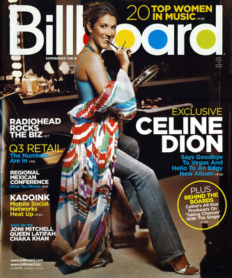 Celine Dion - Billboard Magazine [USA] (13 Octobre 2007)