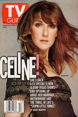 Celine Dion - Couverture TV Guide Magazine [USA] (30 Mars 2002)