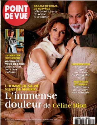 Celine Dion, René - Couverture Point De Vue Magazine [France] (20 janvier 2016)